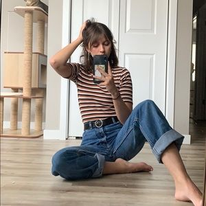 Neutral Striped Tee